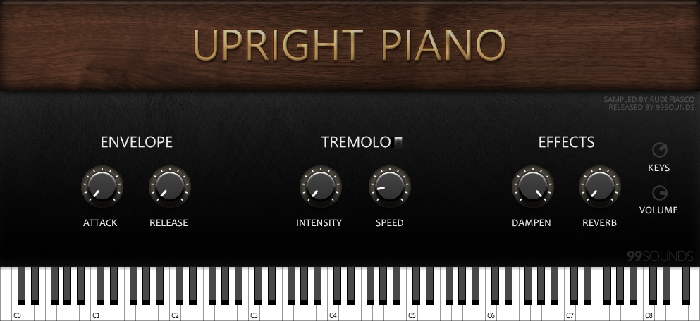 Upright Piano free rompler by 99Sounds