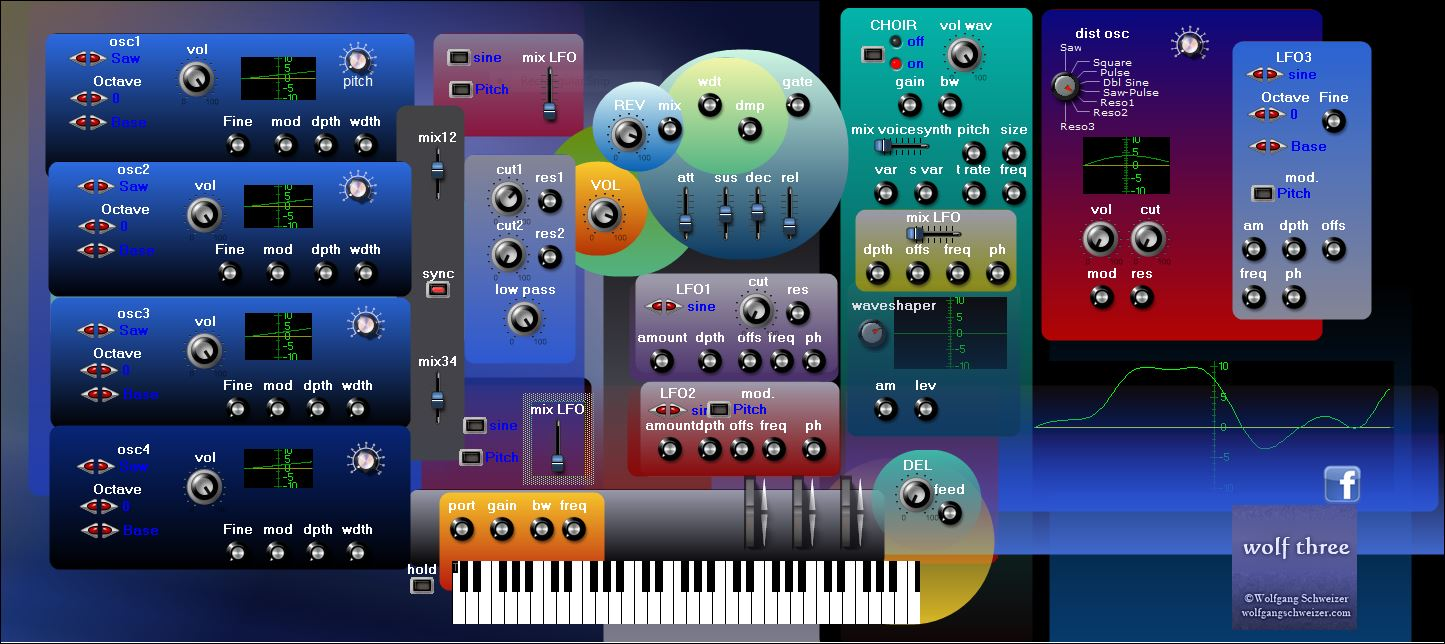 wolf three free software-synthesizer by Schweizer Arts