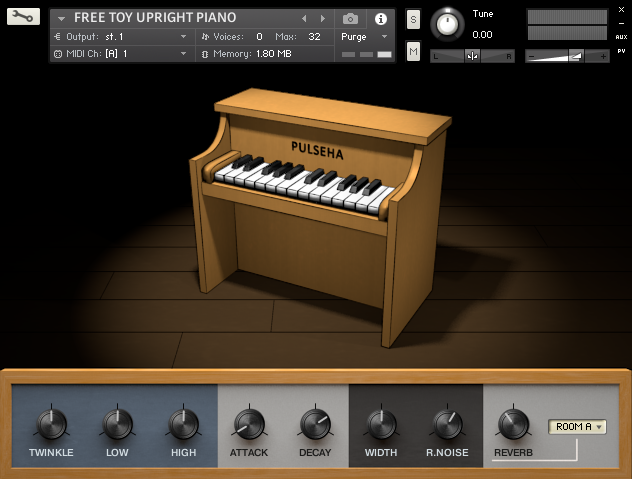 Free Toy Upright Piano free soundbank by Pulseha
