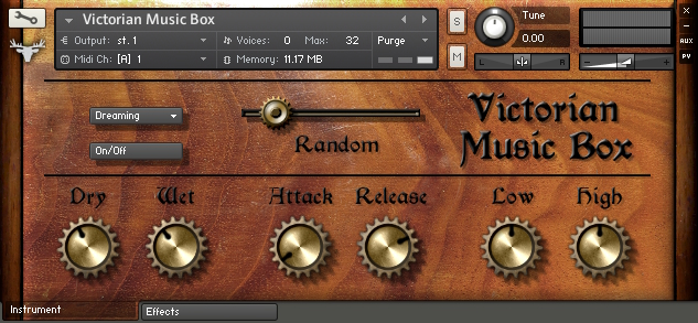 Victorian Music Box free soundbank by FrozenPlain
