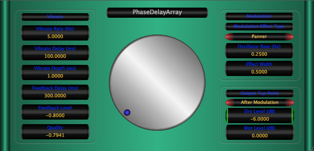 PhaseDelayArray free delay | echo | modulation by Music Unfolding