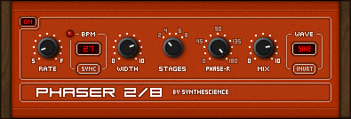 Phaser 2/8 free phaser by Synthescience