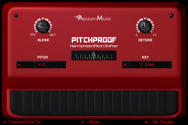 Pitchproof free harmonizer by Aegean Music