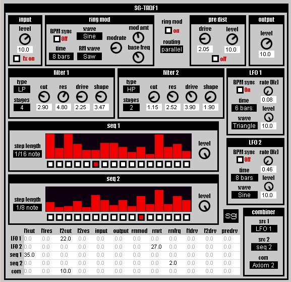 sg-tadf1 free filter   ring-modulator by Synthgeek