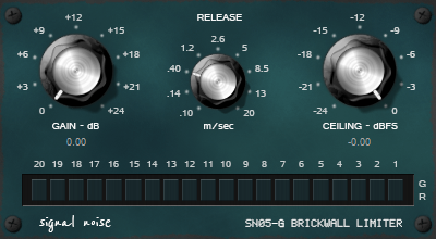 Signal Noise SN05-G Brickwall Limiter free limiter by Sender Spike