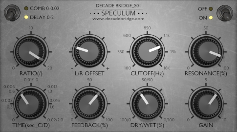 Speculumfree free multi-fx | delay | echo | chorus | flanger | phaser | filter by Decade Bridge