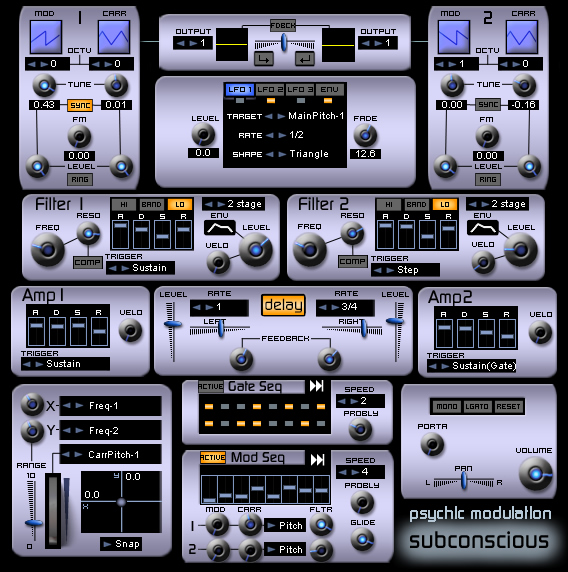 Subconscious free software-synthesizer by Psychic Modulation
