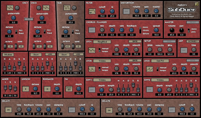 SubDuer free software-synthesizer by Majken