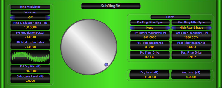 SubRingFM free ring-modulator by Music Unfolding