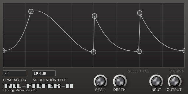 TAL-Filter II free filter by Togu Audio Line