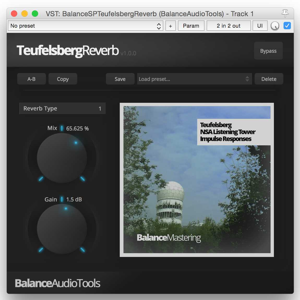 Teufelsberg Reverb free reverb by Balance Mastering