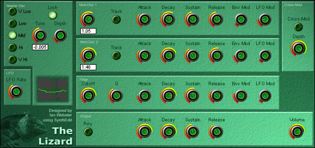 The Lizard free software-synthesizer by Krakli