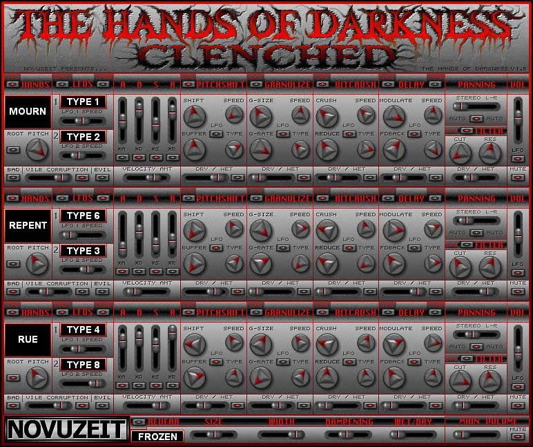 The Hands Of Darkness free software-synthesizer by NOVUZEIT