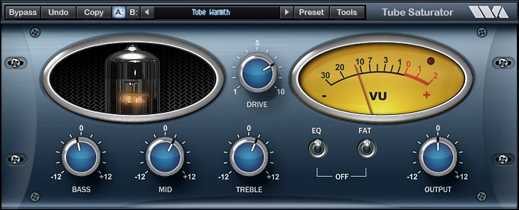 Tube Saturator Vintage free overdrive | saturation by Wave Arts