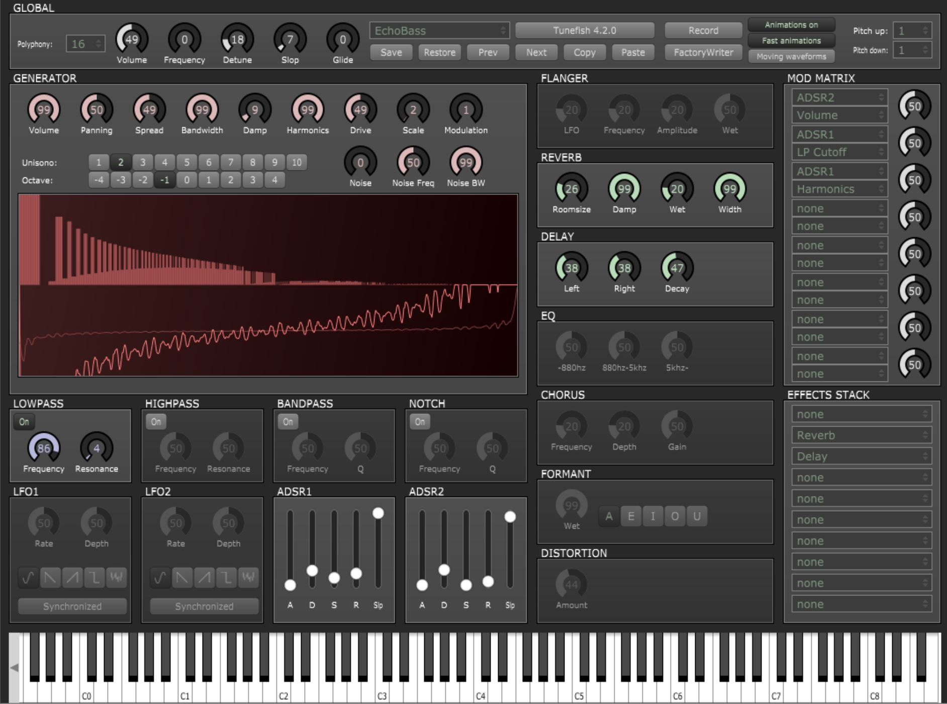 Tunefish 4 free software-synthesizer by Brain Control