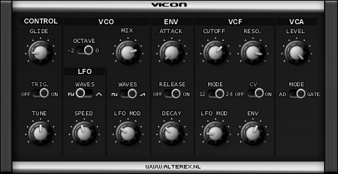 ViCON free software-synthesizer by Alterex