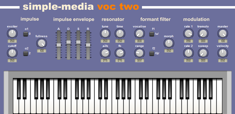 voc-two free software-synthesizer by Simple-Media