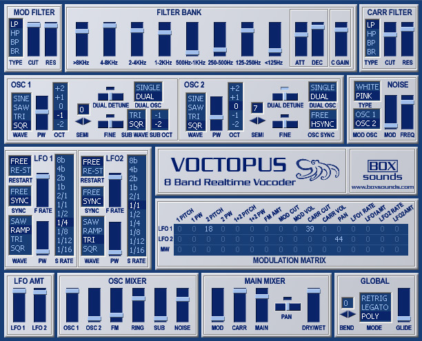 Voctopus free vocoder by Boxsounds