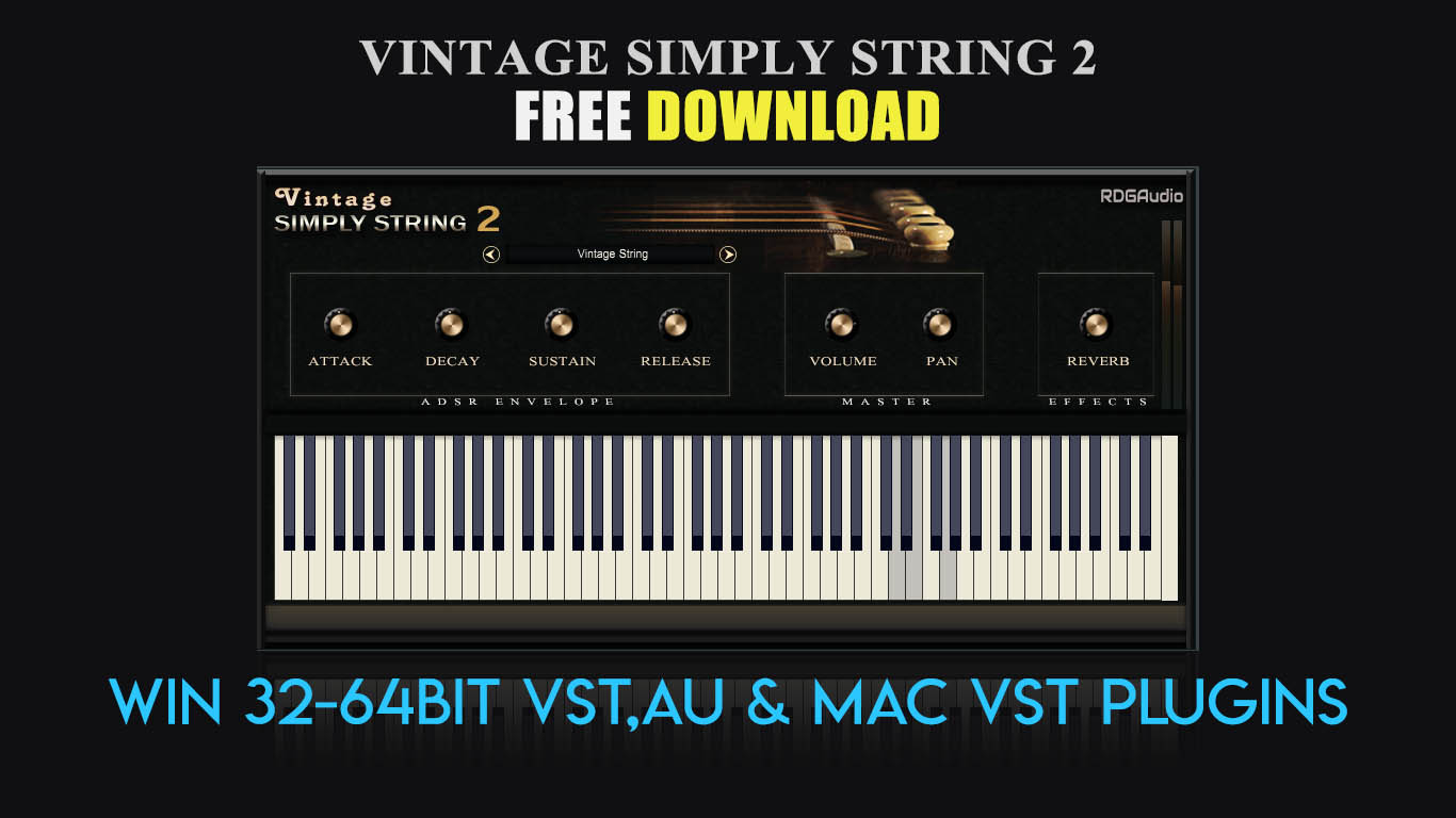 Vintage Simply String 2 free software-synthesizer by RDGAudio