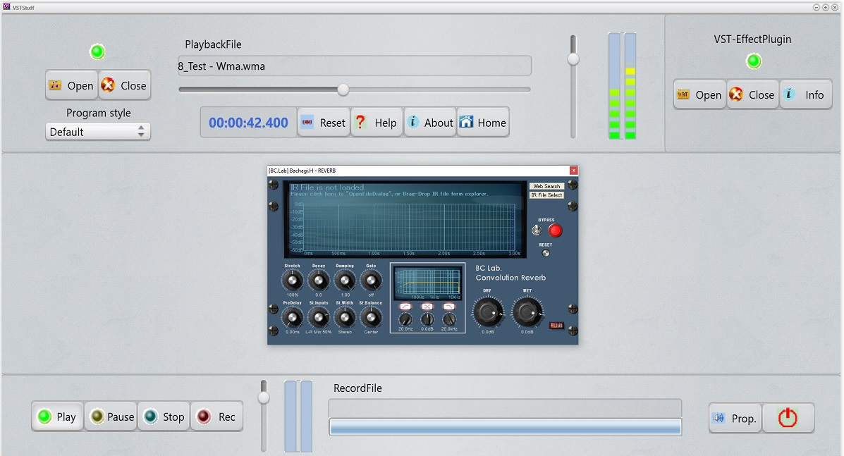 VSTStuff free audio-recorder | host by BelaDaddy Software