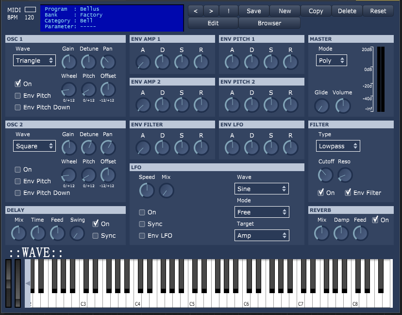 Wave free software-synthesizer by synthANDware