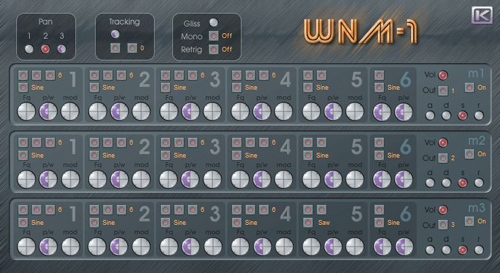 WNM-1 free software-synthesizer by KlangLabs
