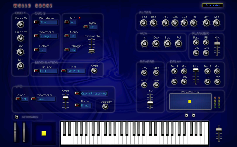 Wollo Drone free software-synthesizer by Erik Wollo