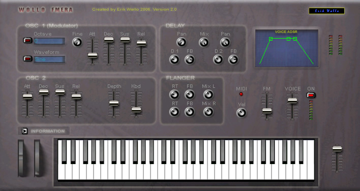 Wollo FMERA free software-synthesizer by Erik Wollo