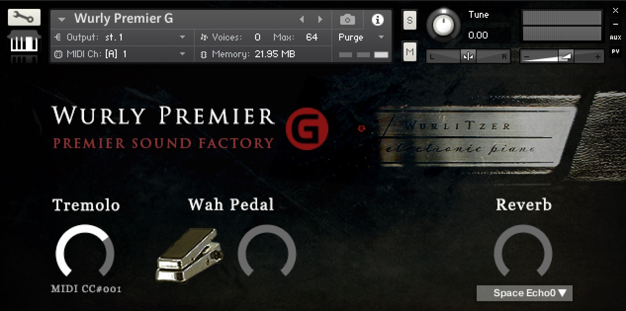 Wurly Premier G free soundbank by Premier Sound Factory