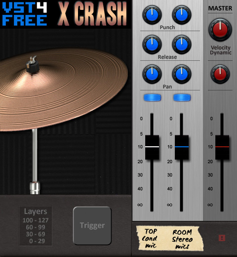 X Crash free rompler by VST4FREE