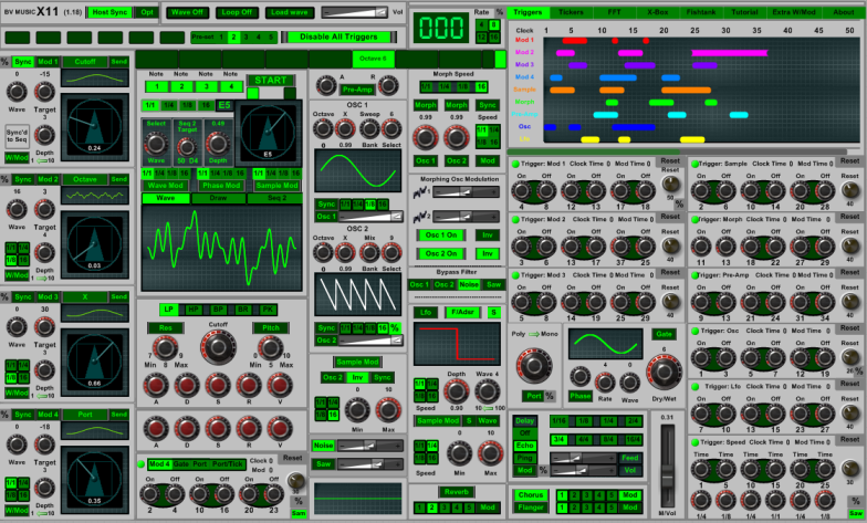 X11 free software-synthesizer by BV Music