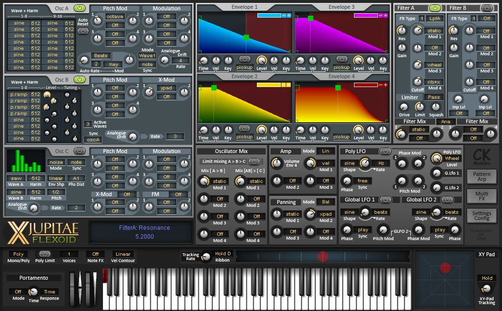X-Jupitae Flexoid free software-synthesizer by CK_Modules