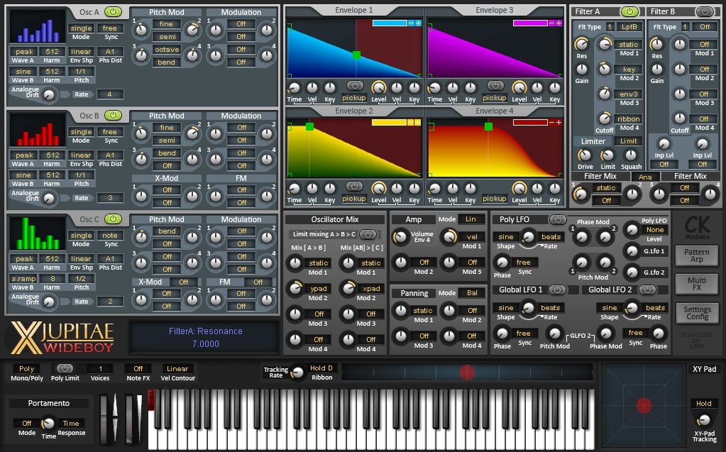 X-Jupitae Wide-Boy free software-synthesizer by CK_Modules