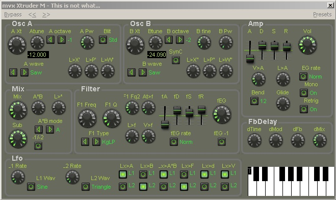 Xtruder free software-synthesizer by MVX Synths