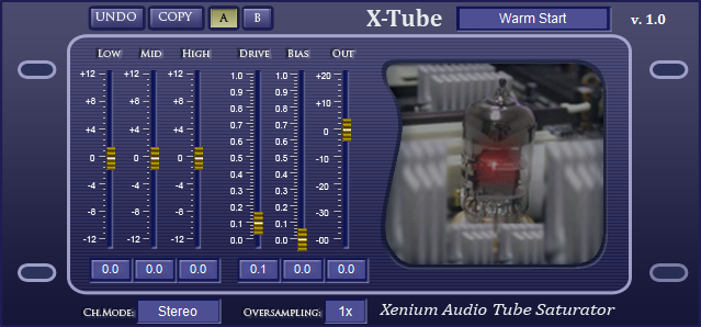 X-Tube free overdrive | saturation by Xenium Audio