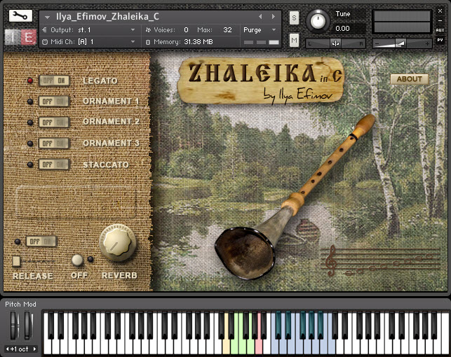 Zhaleika in C free soundbank by Ilya Efimov Production