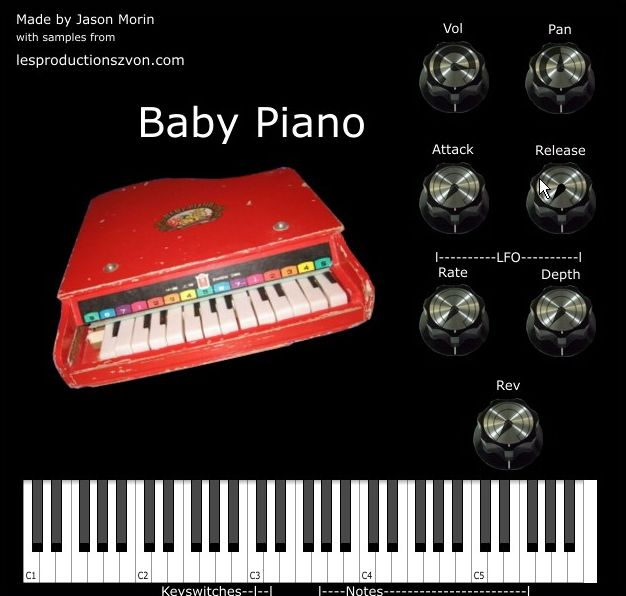 Baby Piano free rompler by Les Productions Zvon