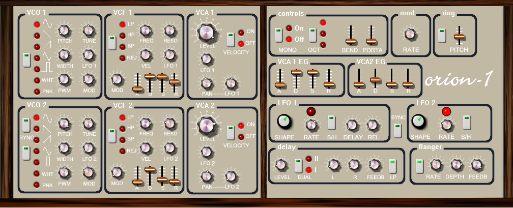 Orion 1 Free Software Synthesizer Picture
