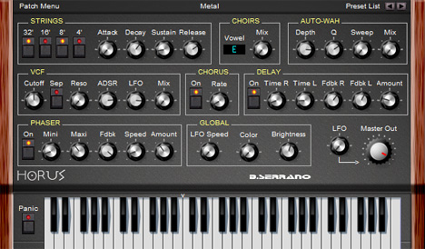 Horus Free Software Synthesizer