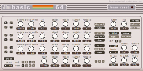 Basic 64 free synthesizer 8 bit emulation