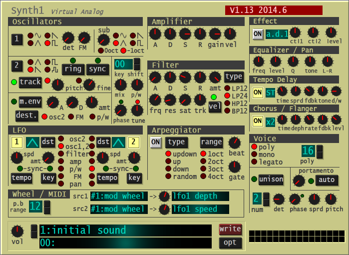 Synth1 Free Software Synthesizer VST by Daichi Lab