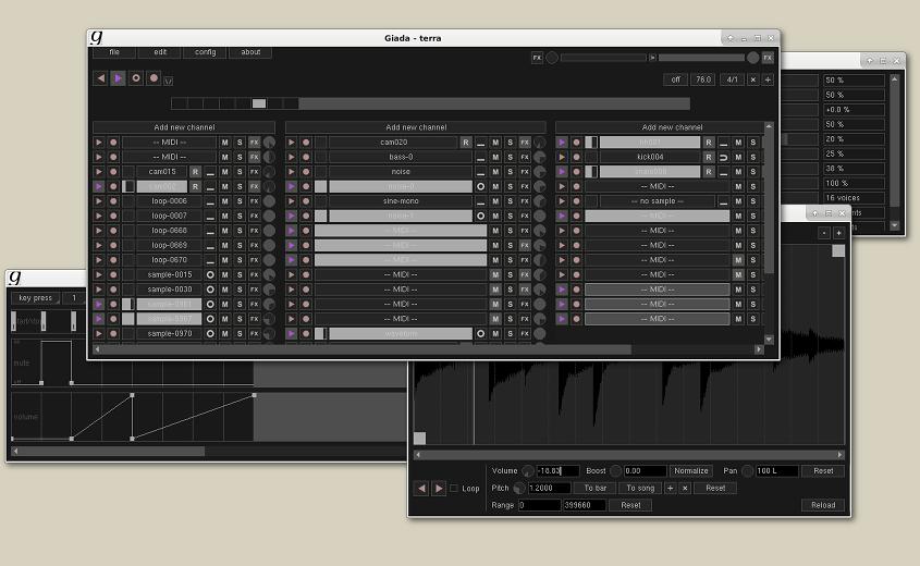 Giada free sequencer | drum-machine | looper by Monocasual Laboratories