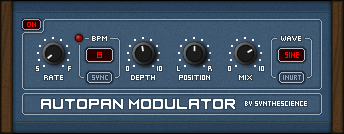 Autopan Modulator free panner by Synthescience