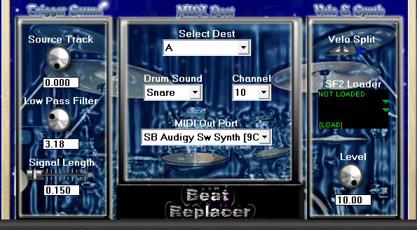 Beat Replacer free drum-sampler   audio-to-midi by CGM Prods