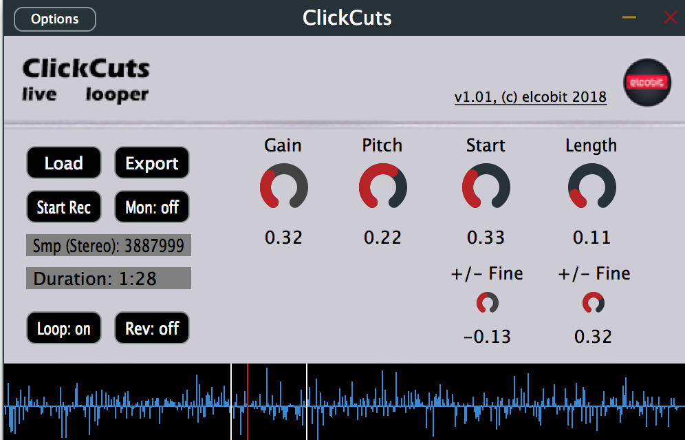 ClickCuts free looper by Elcobit