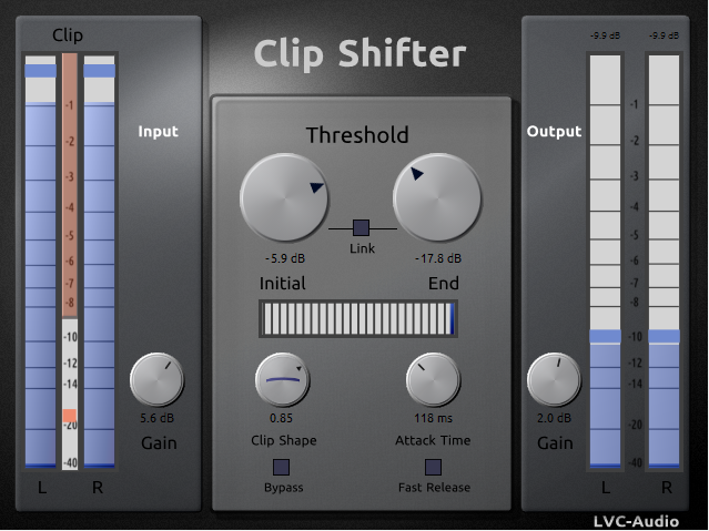 Clip Shifter free limiter | clipper by LVC-Audio