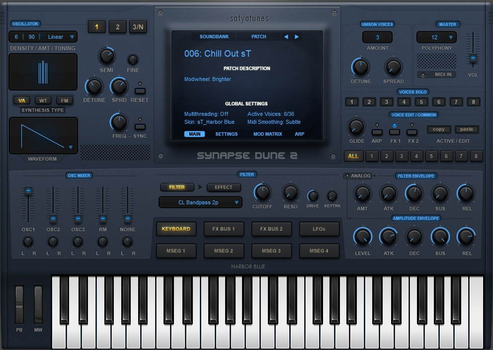 Harbor Blue free softsynth-skin by satYatunes
