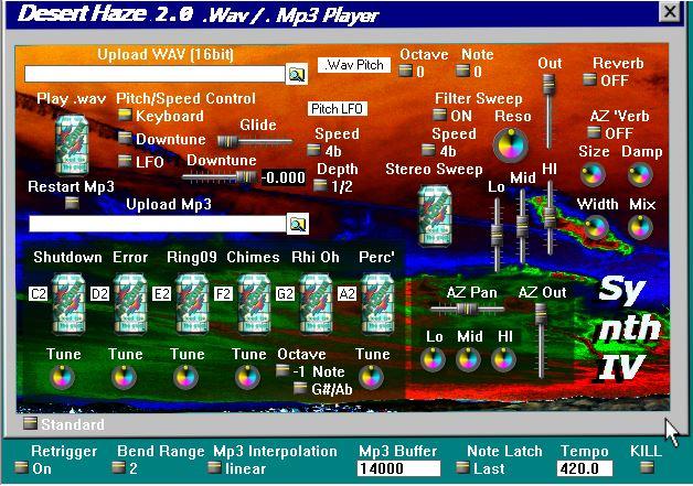 Desert Haze free audio-player by SynthIV