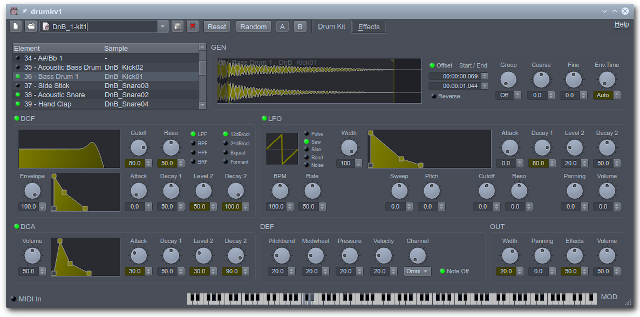 drumkv1 free software-synthesizer by rncbc