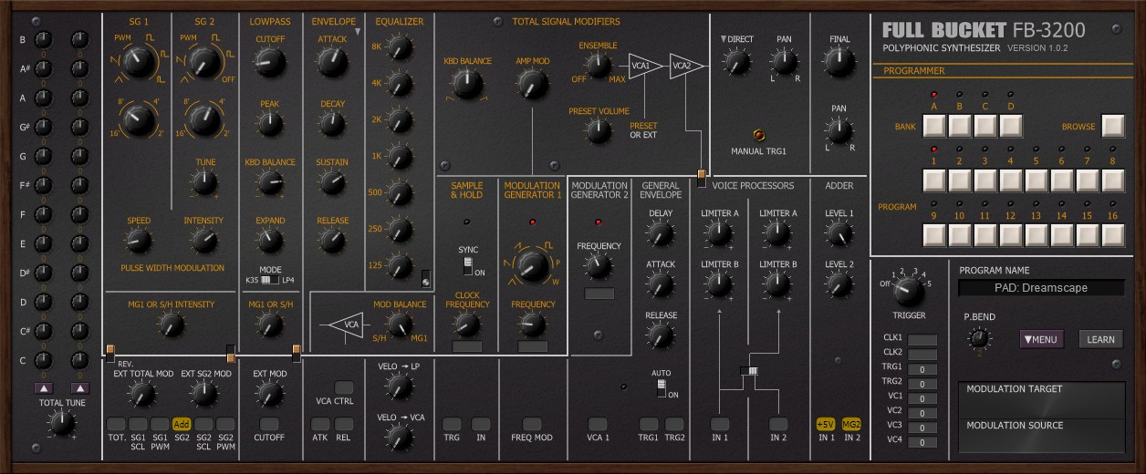 FB-3200 free software-synthesizer by Full Bucket Music